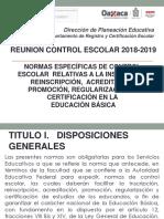 Presentacion Dryce Normas de Control Esc 18-19