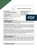 Análisis y Descripcion de Cargos