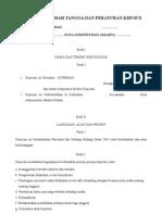 Contoh ART & Peraturan Khusus Koperasi