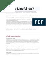 Introduccion Al Mindfulness y Sus Beneficios