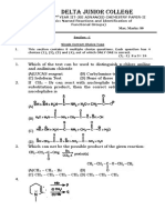 Chemsitry II YR Advanced Paper - II Named Reactions and Identification of Functional Group
