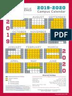 Campus Calendar 2019 2020