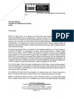 Carta radicada al Presidente Duque en caso de estafa a campesinos de los Llanos Orientales