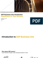 Introduction to SAP Business One