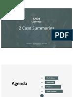 Andy LeSavage 2 Case Summaries