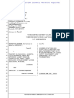 Terrence Zehrer v Cook, Maestri, Federighi, Al Gore - Breach of Fiduciary Duty ...