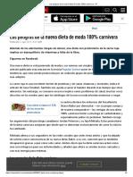 Los Peligros de La Nueva Dieta de Moda 100% Carnívora - RT