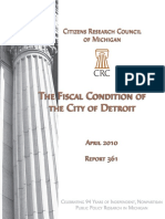 The Fiscal Condition of the City of Detroit 2010