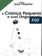 A Criança Pequena e suas Linguagens 3