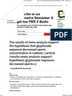 Effects of Glyphosate Exposure on Sperm Concentration in Rodents- A