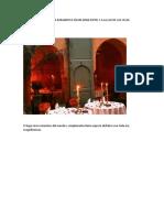 Mesa Para Cena Romantica en Un Gran Hotel y a La Luz de Las Velas