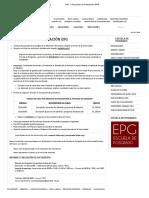 UAC » Requisitos de Postulación EPG