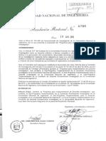 RR-0766 Subprograma Implementación Condición Docente-extraordinario Investigador UNI