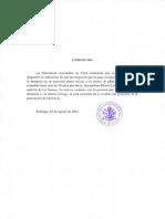 Comunicado Nunciatura Apostólica