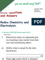 9 GCSE Redox Electrolysis