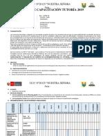 Plan de Capacitación - Horas Colegiadas 209