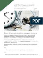Boliviaimpuestos.com-Sistema de Facturación Electrónica y Su Postergación