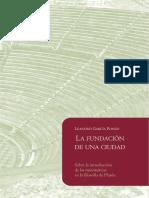 García Ponzo, Leandro - La Fundación de una Ciudad. Sobre la Introducción de las Matemáticas en la Filosofía de Platón.pdf