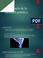 Importancia de La Variedad Genética