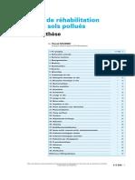 Techniques de rehabilitation des sols pollués