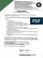 Lowongan Tenaga Pengadministrasi Umum Non Pegawai Negeri Poltekkes Kemenkes Palembang Tahun 2019