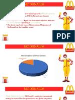 Internationalisation of McDonalds