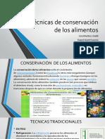 Técnicas de Conservación de Los Alimentos