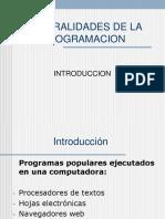 Generalidades de la programacion