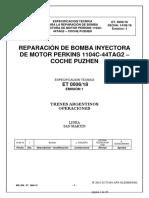 REPARACIÓN DE BOMBA INYECTORA DE MOTOR PERKINS 1104C-44TAG2 – COCHE PUZHEN