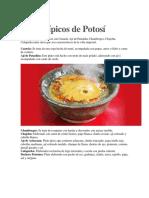 tipicos de potosi platos