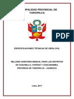 3. Especificaciones Técnicas de Obra Civil Relleno Sanitario