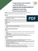 Bases Del Fulbito de Menores Inter Apvs Saylla 2018
