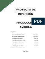 Proyecto de Inversion de Pollos - Año 2019
