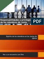 Privilegios y Responsabilidades Miembros de Junta