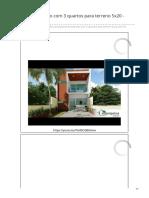 Soprojetos.com.Br-Planta de Sobrado Com 3 Quartos Para Terreno 5x20 - Cód 161 (1)