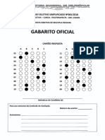 Gabarito Oficial Processo Seletivo n.º 005 2018 Fisioterapeuta