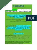 Sustantivos-Adjetivos Clasificados