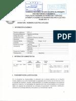 Silabo 2019 INGENIERIA ELECTRICA APLICADA A LA MINERÍA