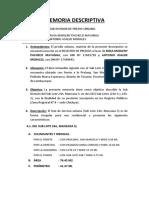 MEMORIA DESCRIPTIVA SUB DIVISION PACHECO MAYANGA.docx
