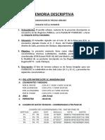MEMORIA DESCRIPTIVA SUBDIVISION EDQUEN ESTELA ROSMERI - ZAÑA.docx