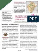 Summer 2019 Newsletter Monterey Vista Neighborhood Association
