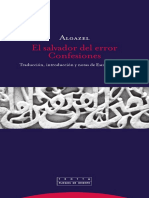 El Salvador del error. Confesiones. Algazel
