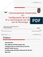 Comunicaciones Industriales 4 Conexion Ethernet MicroLogix