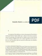Daniel Link Rodolfo Walsh e a Crise Da Literatura