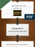 Component 2 Curriculum Content