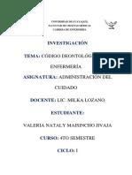 CODIGO DEONTOLOGICO ENFERMERIA