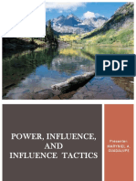 Power, Influence and Influence Tactics