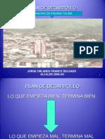 presentacion tecnica plan de dessarrollo