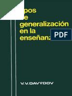 V. v. Davydov Tipos de Generalizacion en La Ensenanza