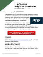 Backpedal - A Técnica Fundamental para Cornerbacks - Head Coach Brasil
